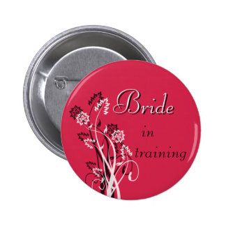 Bride in Training Pin - Deep Red