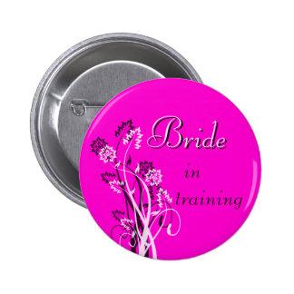 Bride in Training Pin - Fuschia