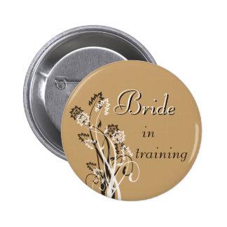 Bride in Training Pin - Latte Beige