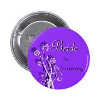 Bride in Training Pin - Purple
