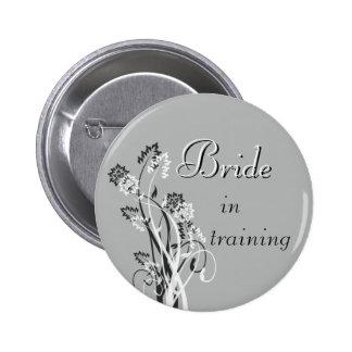 Bride in Training Pin - Slate Grey