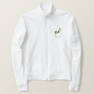 Bride Jacket, Wedding Gift Embroidered Jacket