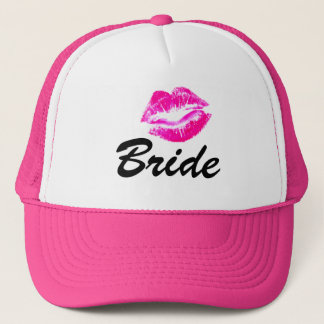 Bride lips trucker hat