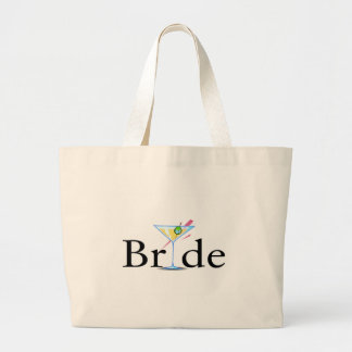 Bride Martini Large Tote Bag