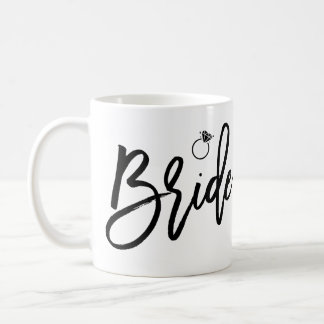 Bride Mug White And Black With Ring