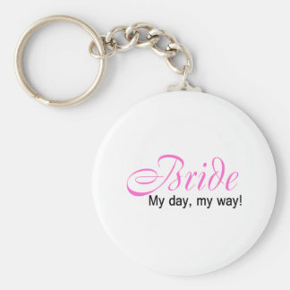Bride (My Day, My Way!) Basic Round Button Keychain
