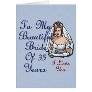 Bride Of 35 Years Card
