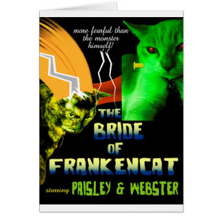 Bride of Frankencat Halloween Card