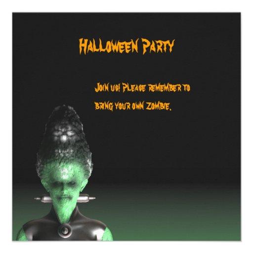 Bride of Frankenstein - Halloween Party Invitation
