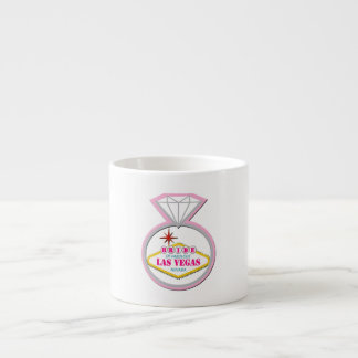 BRIDE of Las Vegas with Diamond Ring Espresso Mug