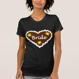 Bride Oktoberfest Heart Design T-Shirt
