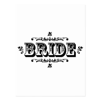 Bride - Old West Style Postcard