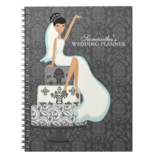 Bride on Wedding Cake Spiral Notebooks