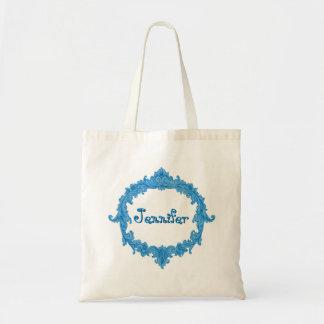 Bride or Bridesmaid Wedding Favor Blue Vintage Tote Bag