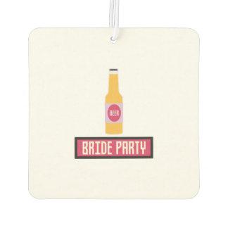 Bride Party Beer Bottle Z6542 Air Freshener