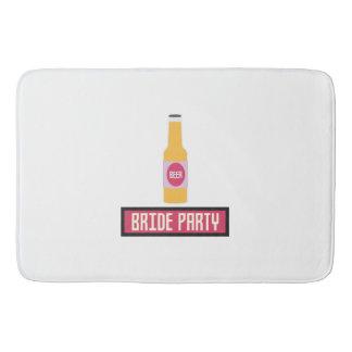 Bride Party Beer Bottle Z6542 Bath Mat