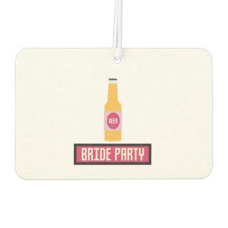 Bride Party Beer Bottle Z6542 Car Air Freshener
