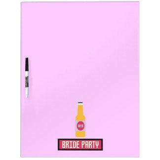 Bride Party Beer Bottle Z6542 Dry Erase Board
