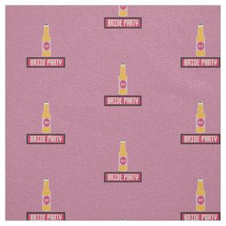 Bride Party Beer Bottle Z6542 Fabric