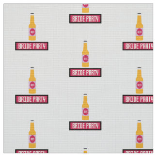 Bride Party Beer Bottle Z6542 Fabric