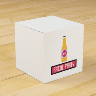Bride Party Beer Bottle Z6542 Favor Boxes