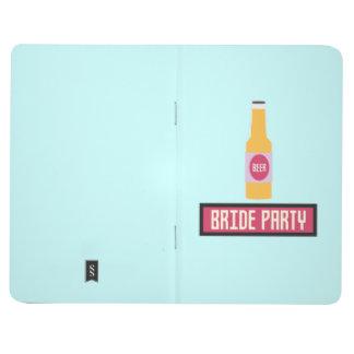Bride Party Beer Bottle Z6542 Journal