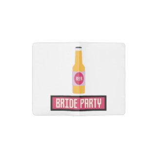 Bride Party Beer Bottle Z6542 Pocket Moleskine Notebook