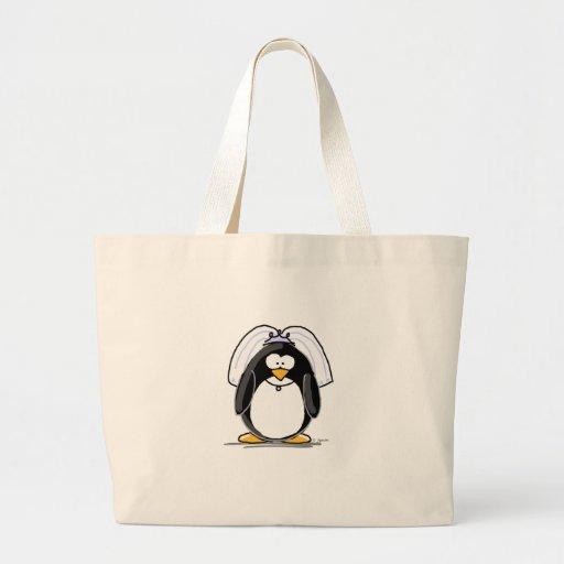 Bride Penguin Canvas Bag