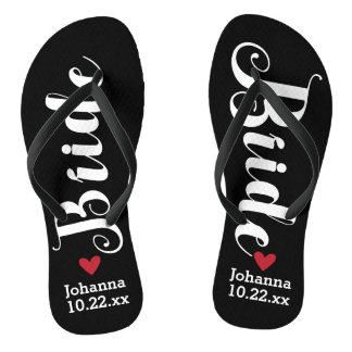 Bride Personalized Wedding Pick Your Color Flip Flops