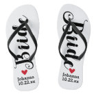 Bride Personalized Wedding Pick Your Colour Flip Flops