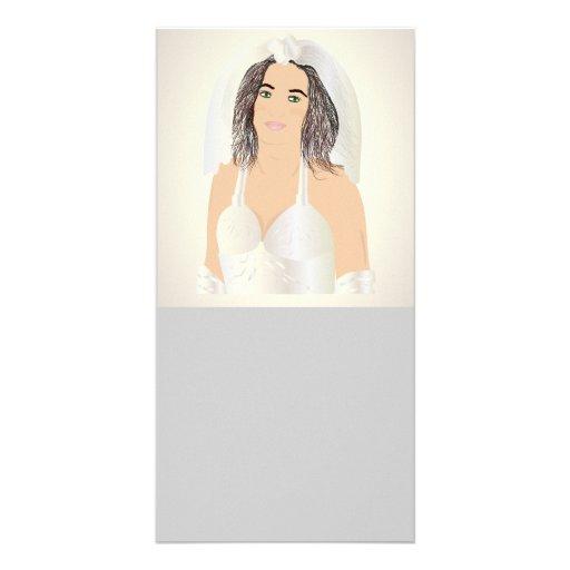 bride custom photo card