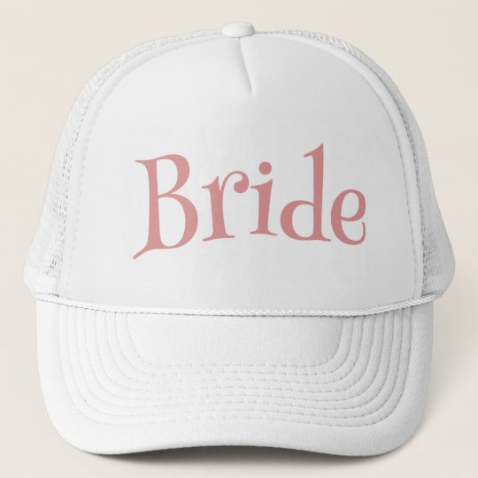 Bride Pink and White Trucker Hat