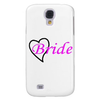 Bride Pink Black Heart Galaxy S4 Covers