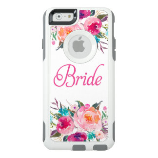 Bride Pink Glitter Watercolor Floral OtterBox iPhone 6/6s Case