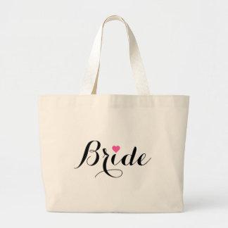 Bride Pink Heart Jumbo Tote Bag