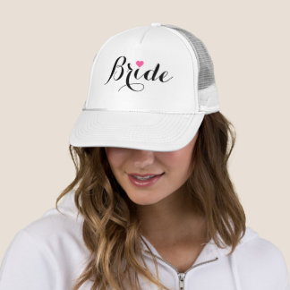 Bride Pink Heart Trucker Hat