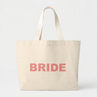 Bride Pink Writing Large Tote Bag