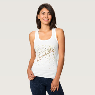 Bride Race Back Tank Top-Petite Golden Stars