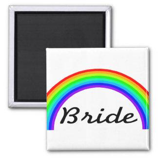 Bride (Rainbow) Fridge Magnets