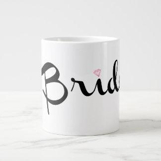 Bride Retro Script Jumbo Mug