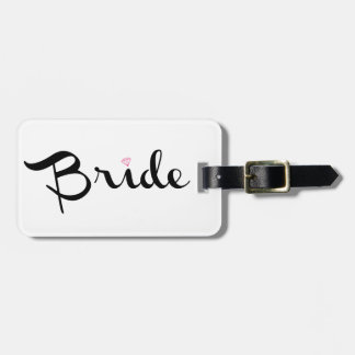 Bride Retro Script Luggage Tag