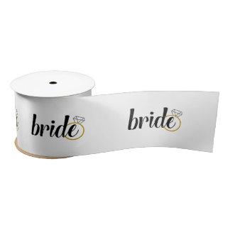 Bride Ribbon - Bridal Shower, Engagement, Wedding Satin Ribbon