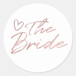 Bride - Rose Gold faux foil sticker