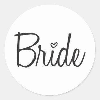 Bride Round Sticker