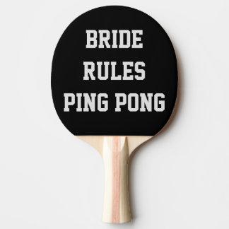 Bride Rules Wedding Ping Pong Paddle