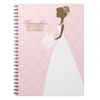 Bride s Silhouette Wedding Planner Spiral Notebook
