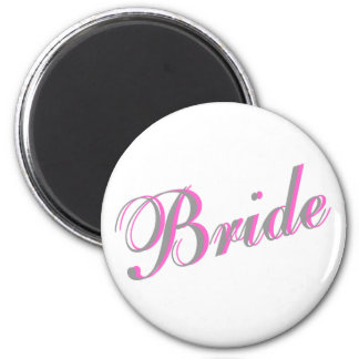 Bride (Script) Fridge Magnets