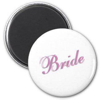 Bride (Script) 2 Inch Round Magnet