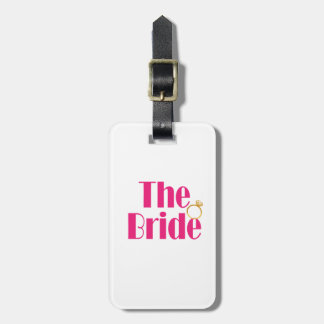 Bride-set-PINK.gif Luggage Tag
