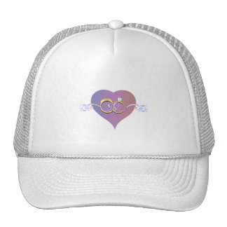 BRIDE SHOWER WEDDING RINGS BAND PARTY TRUCKER HAT